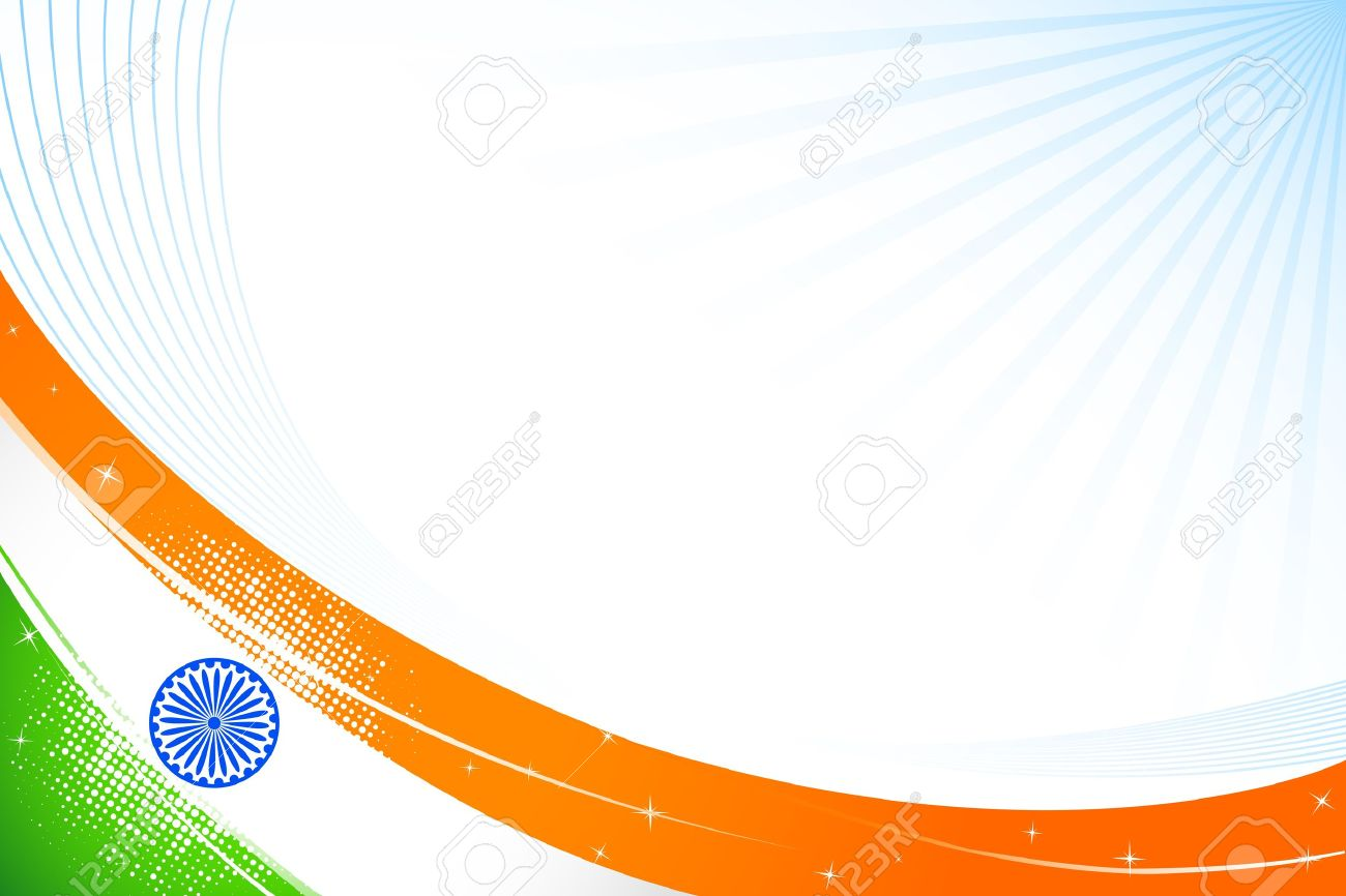 Illustration Of Tricolor Indian Flag On Abstract Background 1300x866
