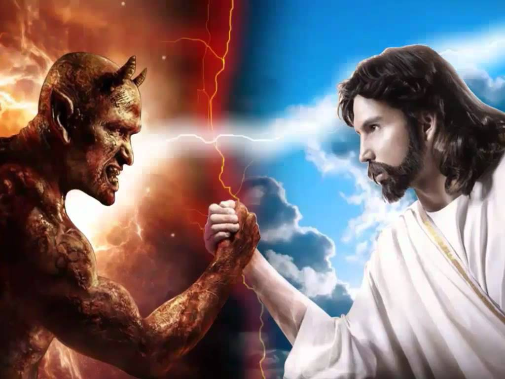 Image Gallery jesus vs satan wallpaper