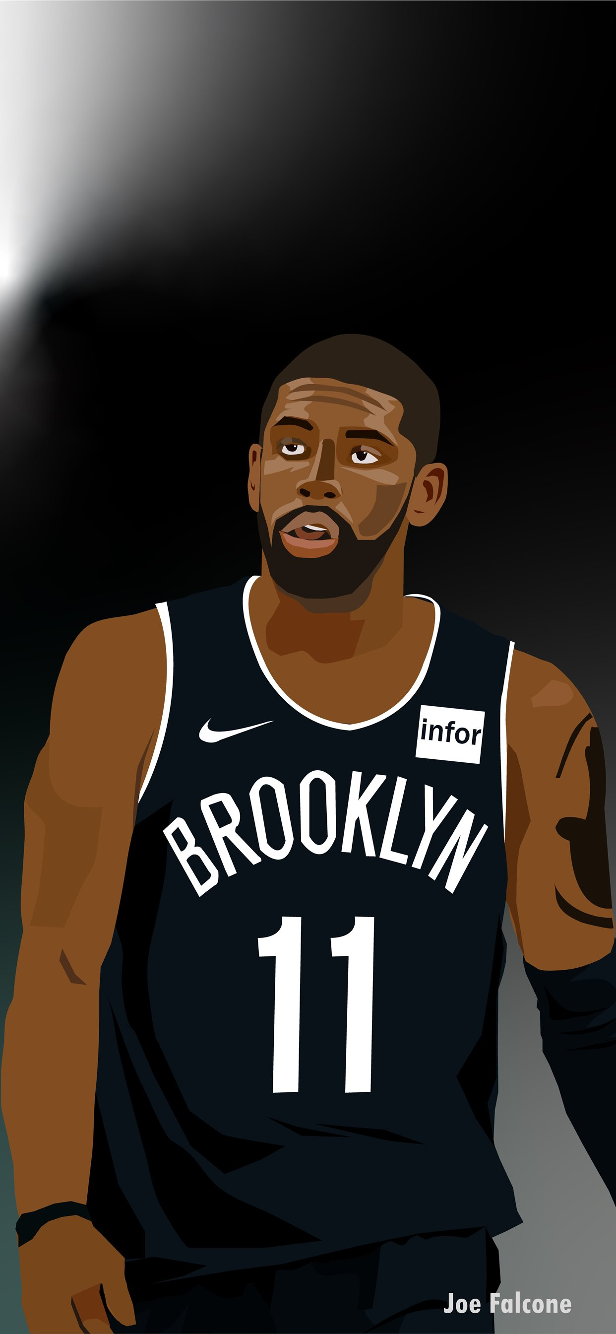 Kyrie Irving Nets HD iPhone X Wallpapers Download 1242x2688