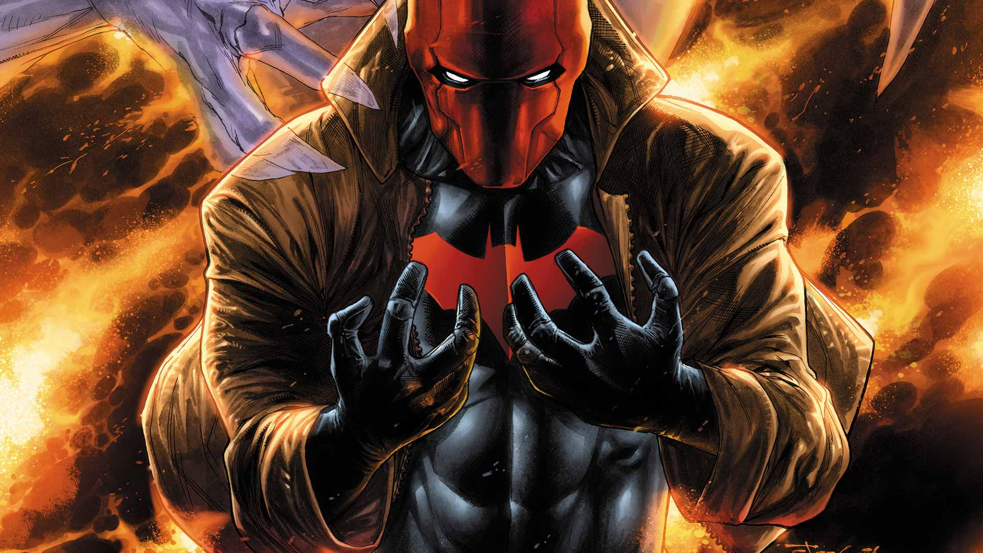 Red hood hd wallpaper wallpapersafari 1920x1080 red hood and the outlaws 36 cover by stephen segovia voltagebd Images