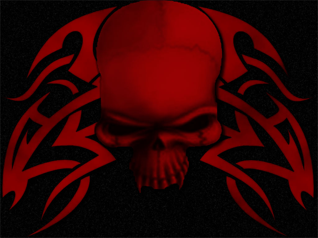 Tribal Skull Wallpaper Tribal Skull Red by 1024x768