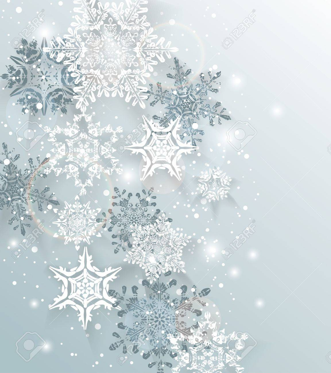 Silver Winter Abstract Christmas BackgroundVector Illustration 1153x1300