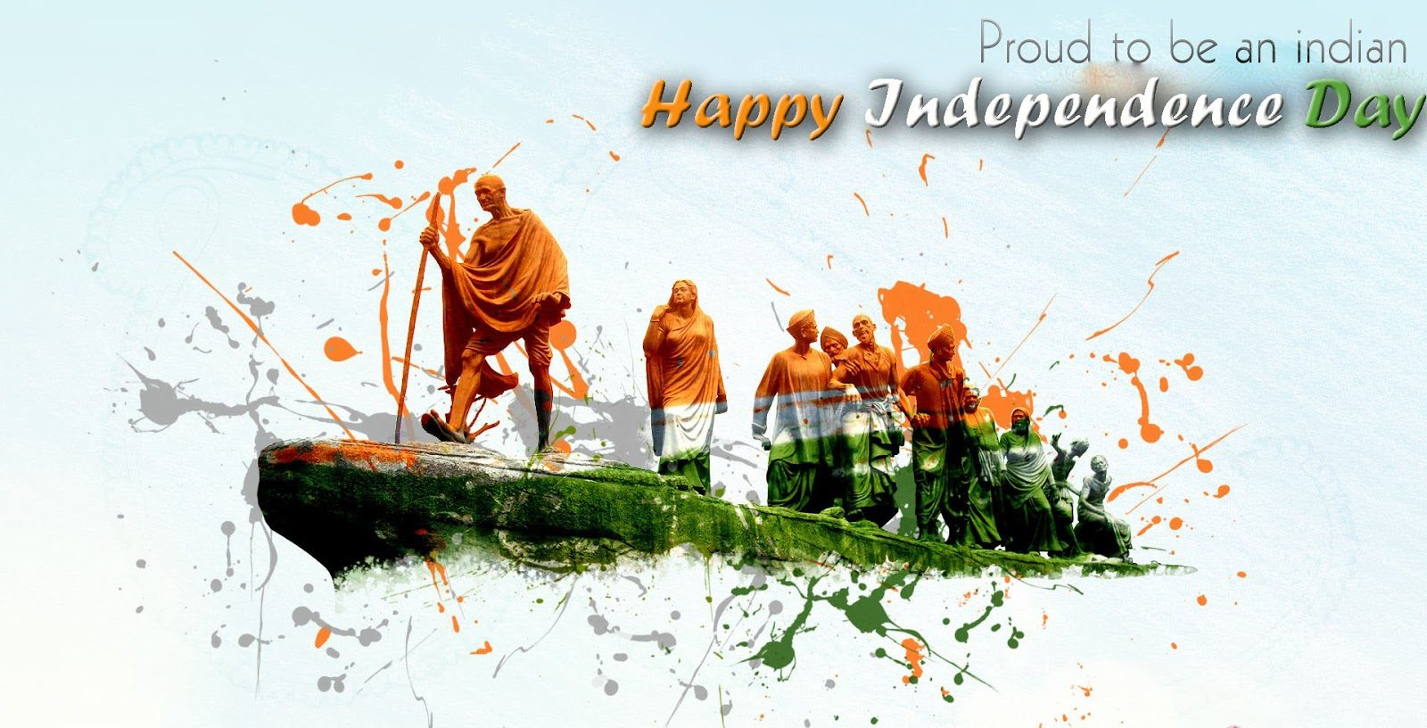 Happy 72th Independence Day of India HD Wallpapers with Quotes 1600x816