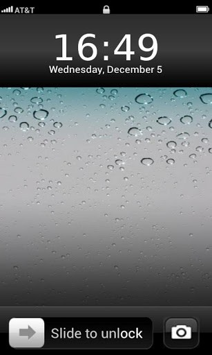 View bigger   iPhone 4S lock screen Theme for Android screenshot 307x512