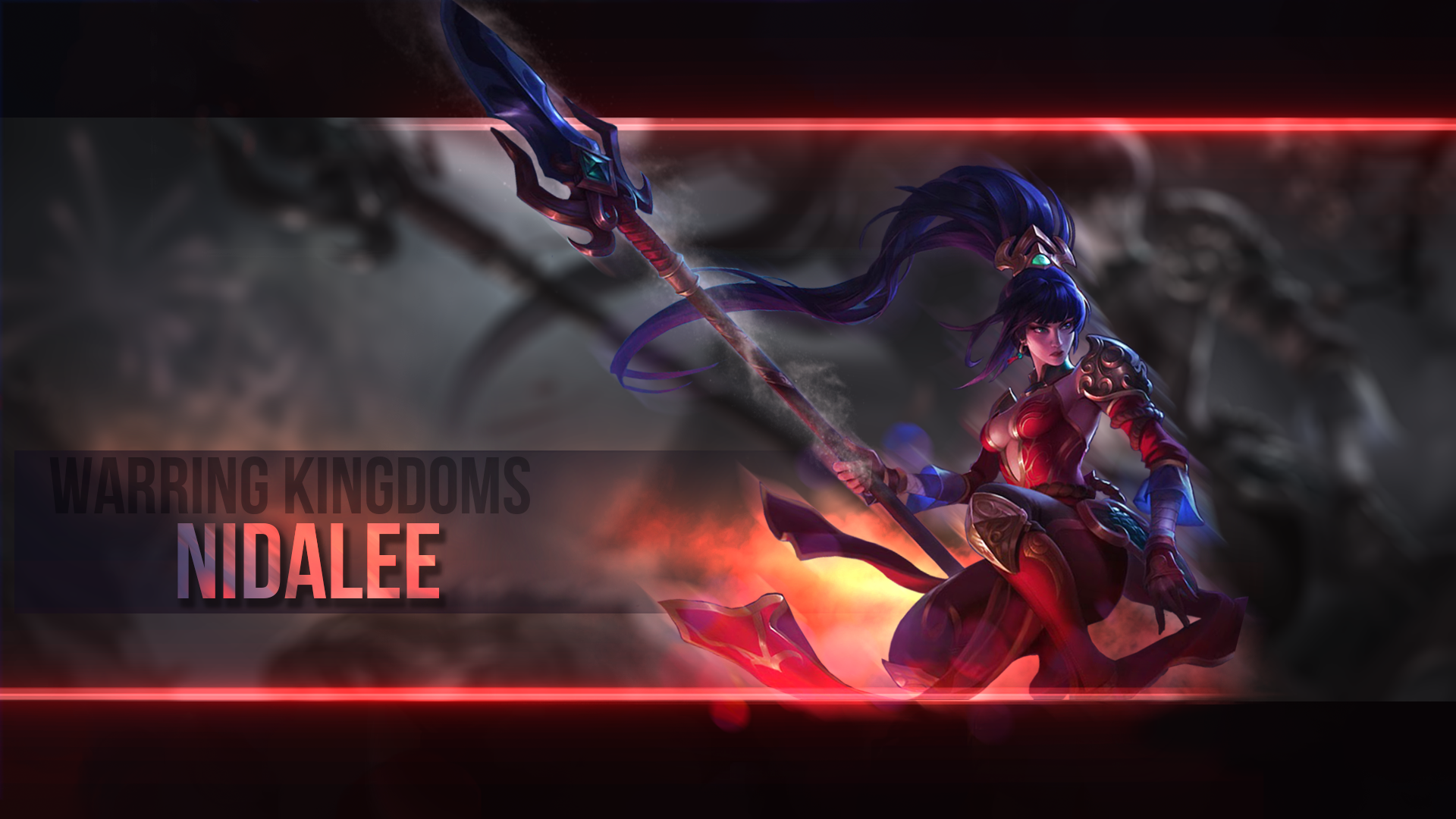 League of Legends   Nidalee   Wallpaper by SomeBeNNy 1920x1080