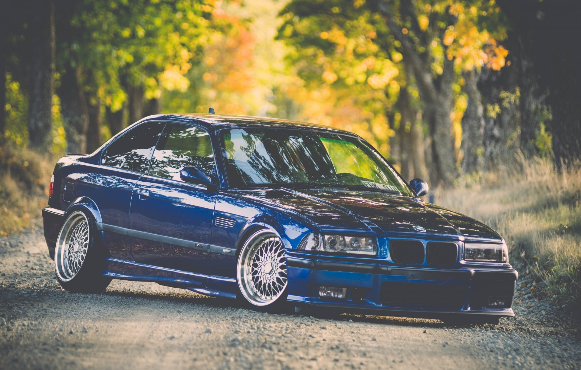 download bmw e36 m3 bmw tuning stance blue HD wallpaper 1920x1222