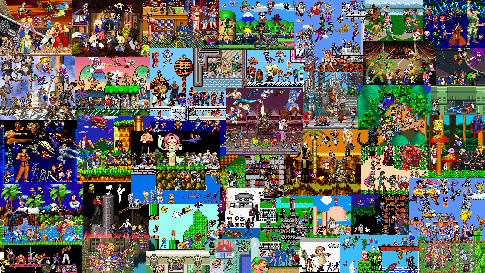 classic video games wallpaper