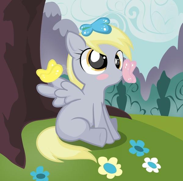 my little pony derpy hooves butterflies Butterflies Wallpapers 600x592