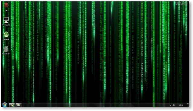 Matrix Code Screensaver Vista