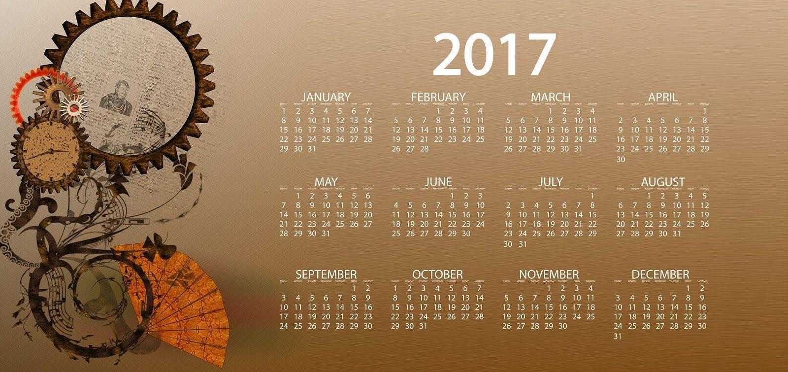 Wallpapers With Calendar 2017 1600x755