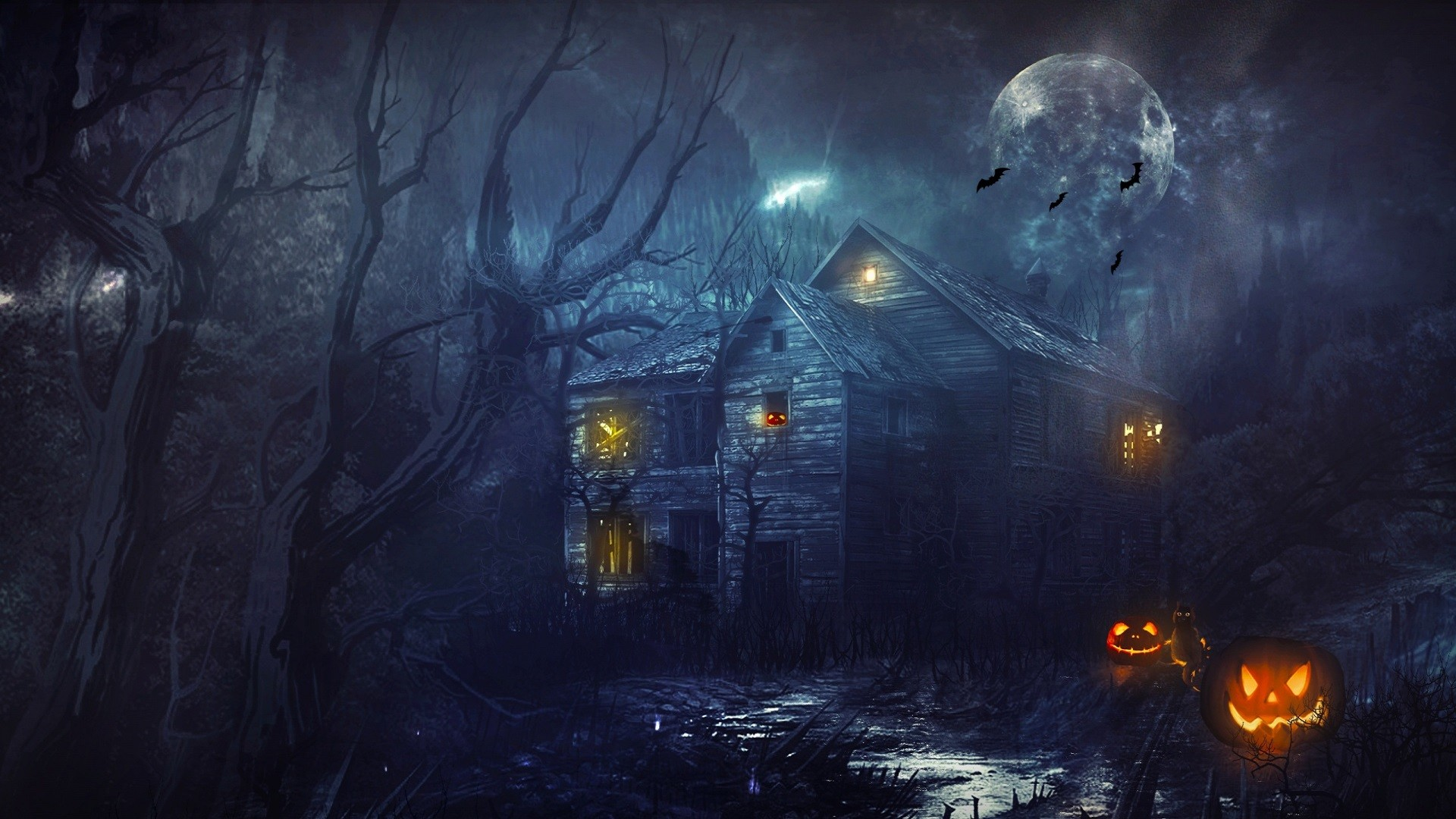 78 Halloween Desktop Wallpapers on WallpaperPlay 1920x1080
