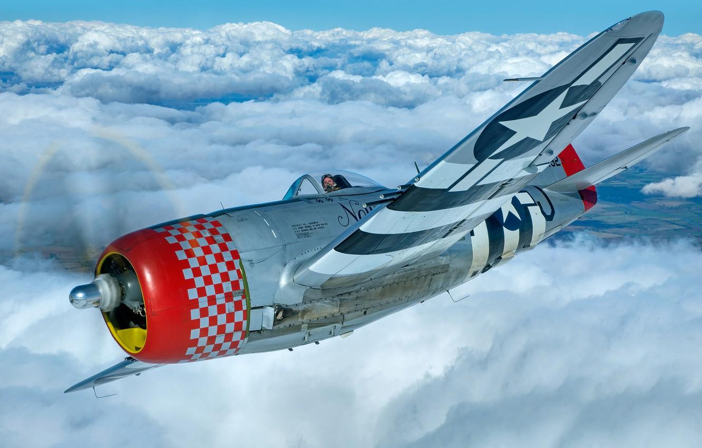 Wallpaper Thunderbolt USAF Fighter bomber The Second World War 1332x850
