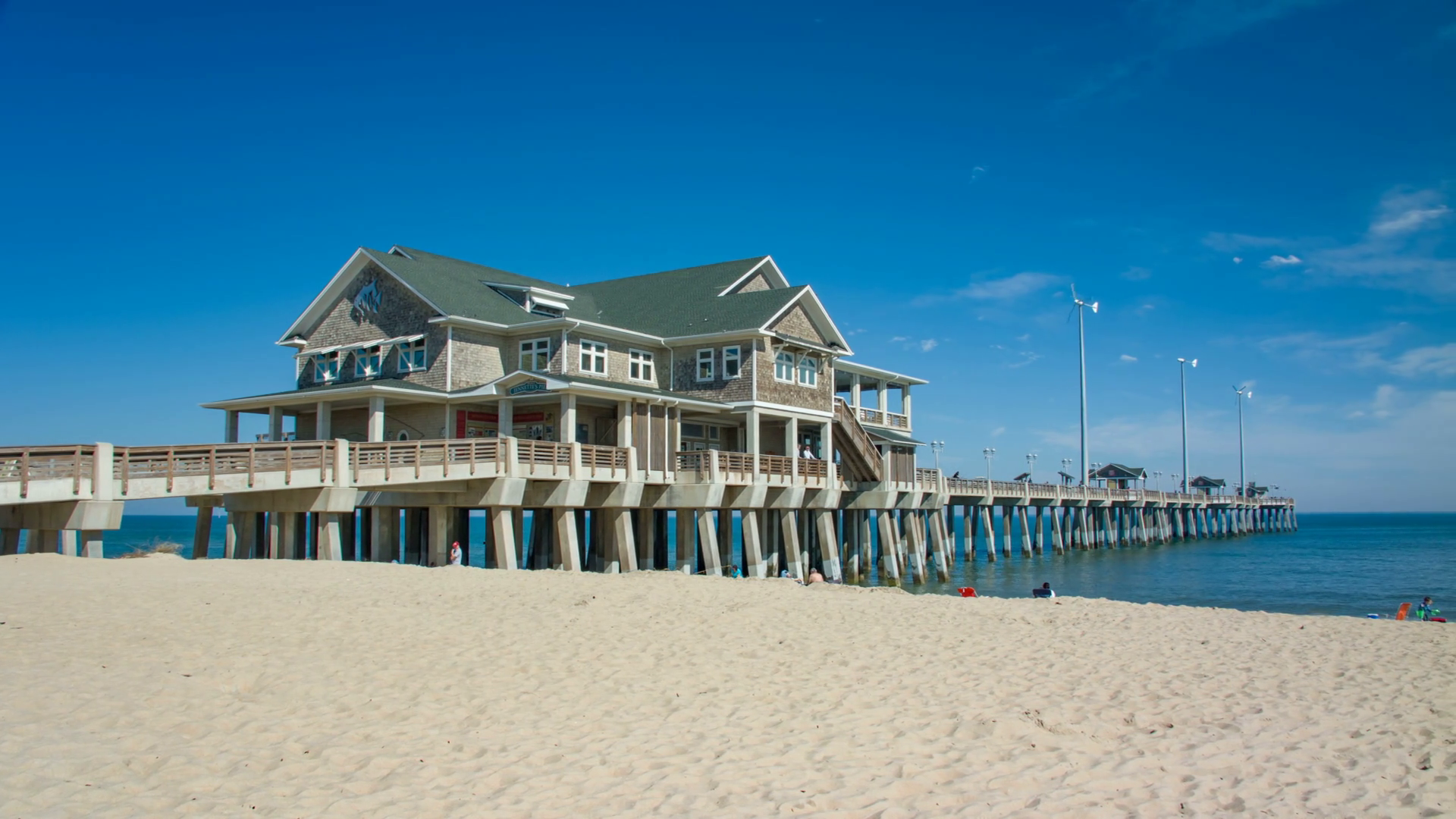 Jennettes Pier in Nags Head on the Outer Banks of North Carolina 1920x1080