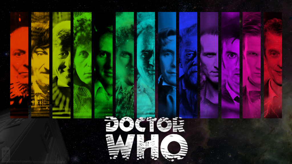 50th Anniversary Doctors Wallpaper by theDoctorWHO2 1024x576
