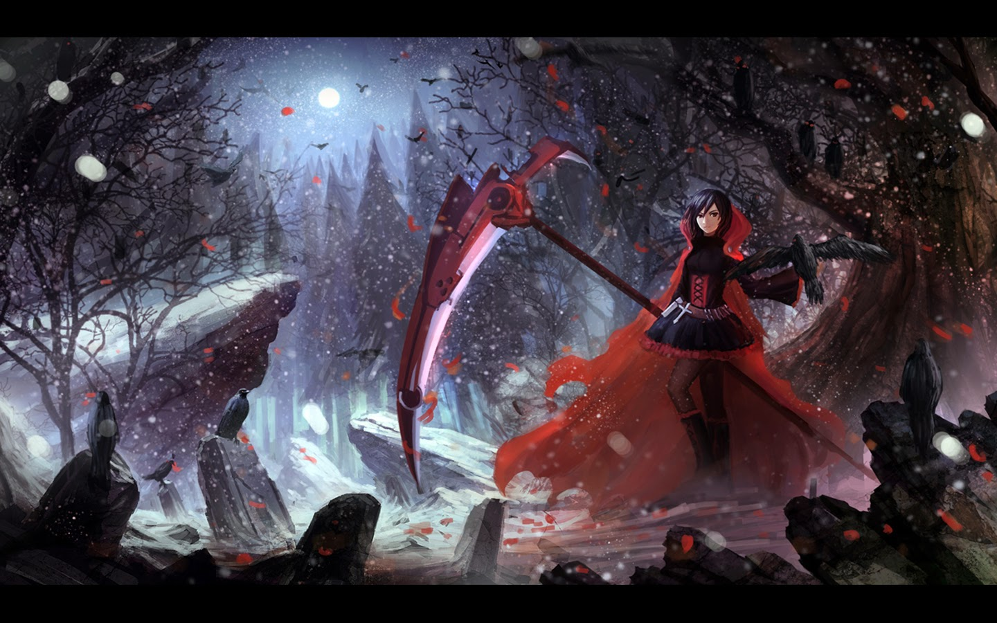 RWBY Ruby Rose a268 HD Wallpaper 1440x900