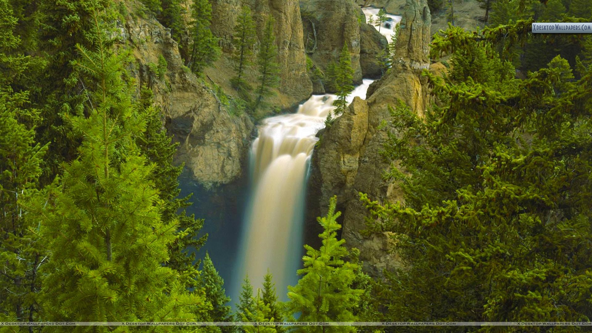 Tower Fall Yellowstone National Park Wyoming Wallpaper 1920x1080