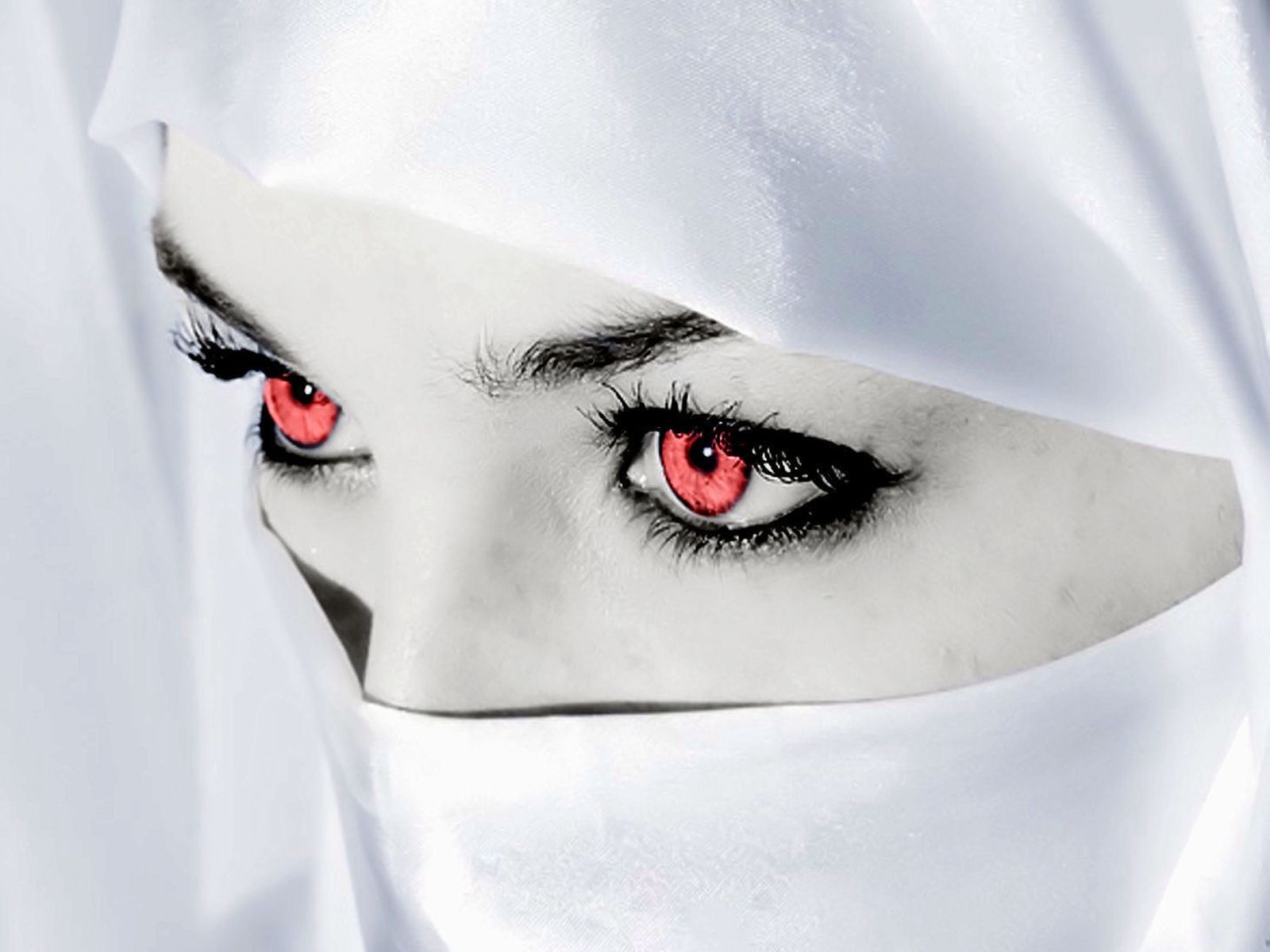 Download High quality red eyes veiled woman Eyes Wallpaper Num 8 1600x1200