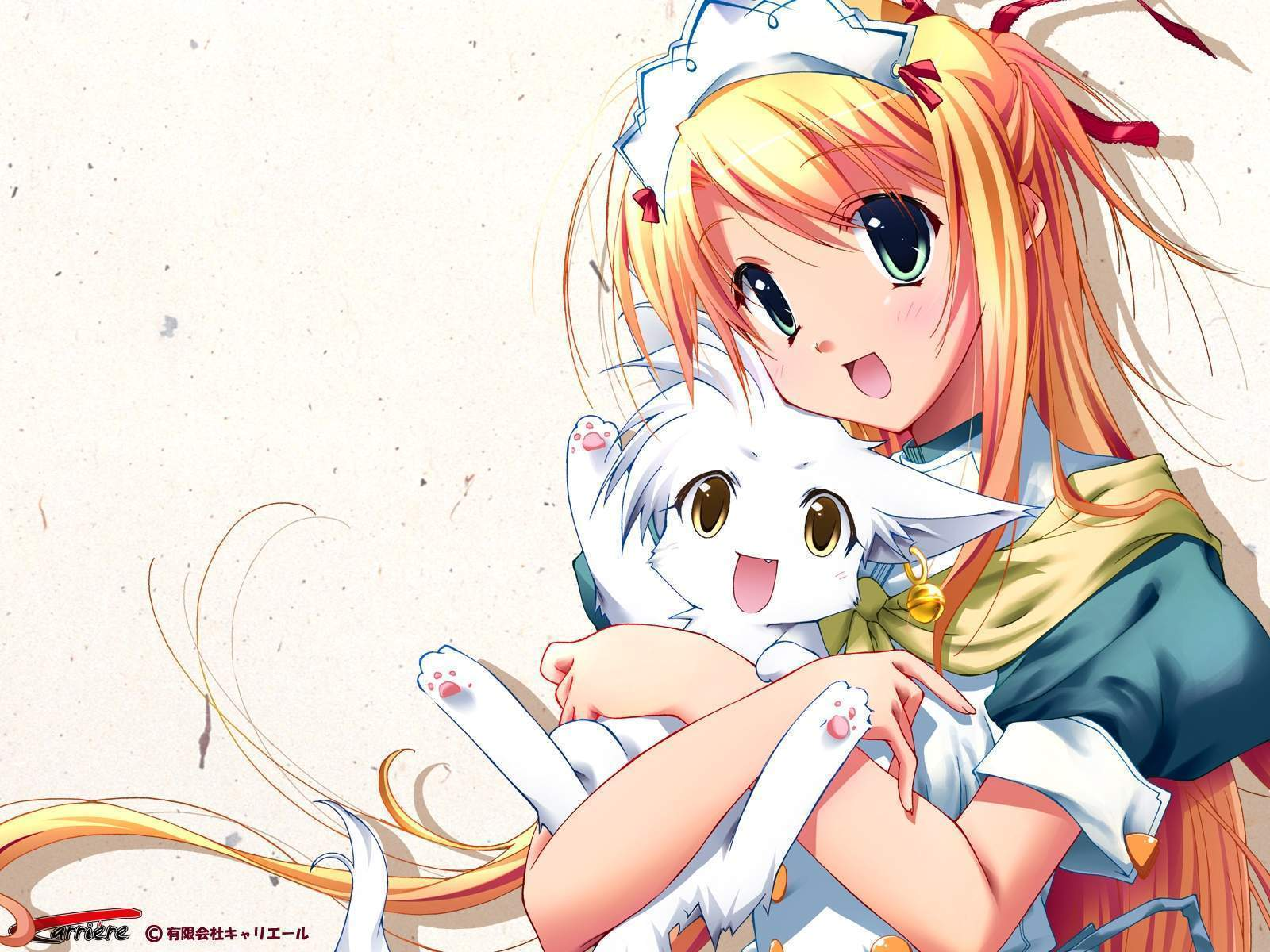 anime girl with catkitten   Star Light Wallpaper 24661414 1600x1200