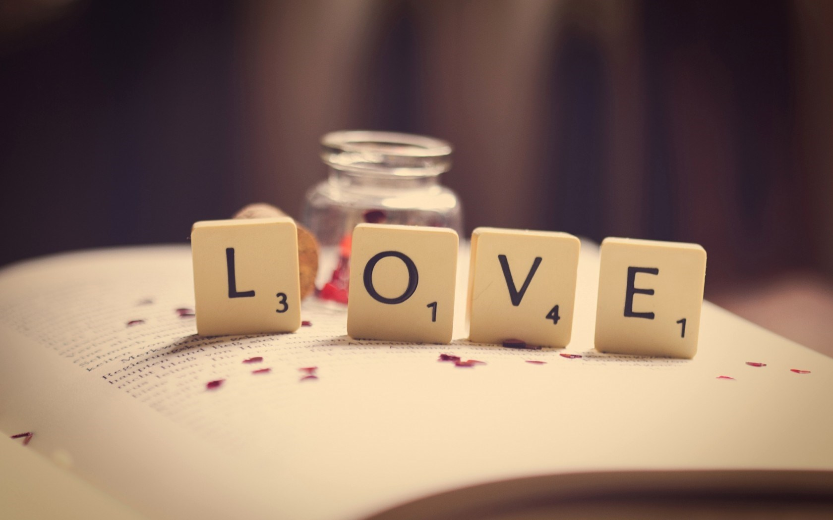 Book Love Word Letters Numbers Macro wallpaper in Other wallpapers 1680x1050
