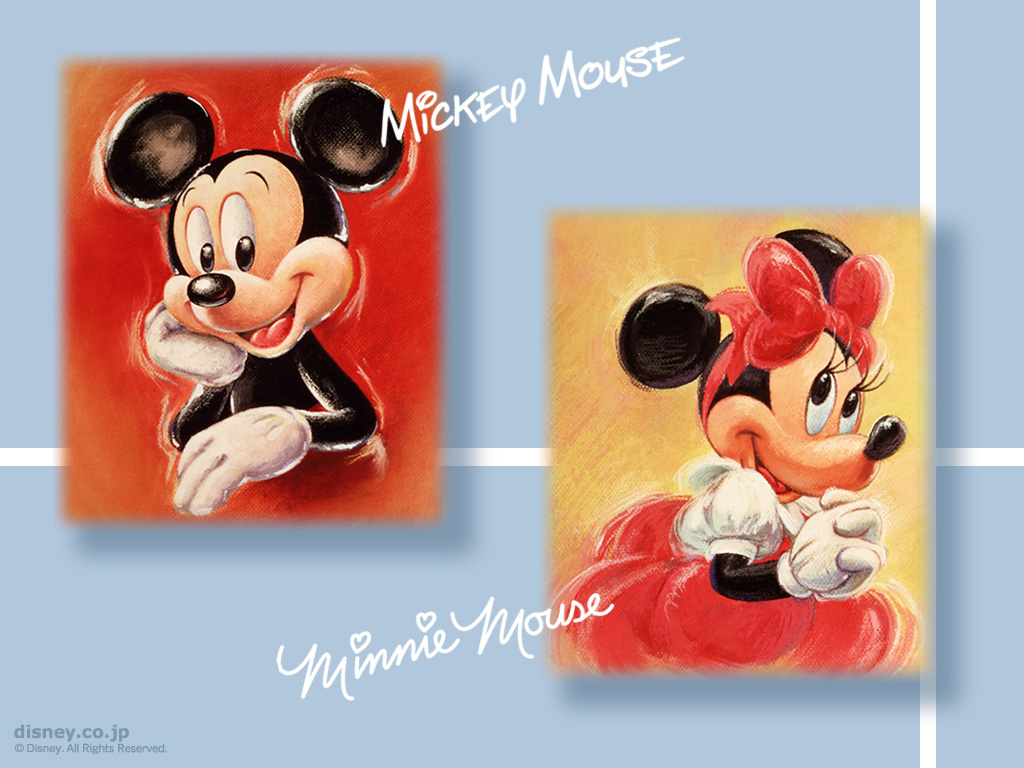 File Name Mickey Mouse and Minnie Mouse Wallpapers 1024x768