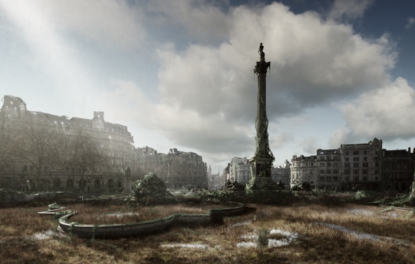 Wallpaper i am legend city london london art wallpapers fantasy 596x380