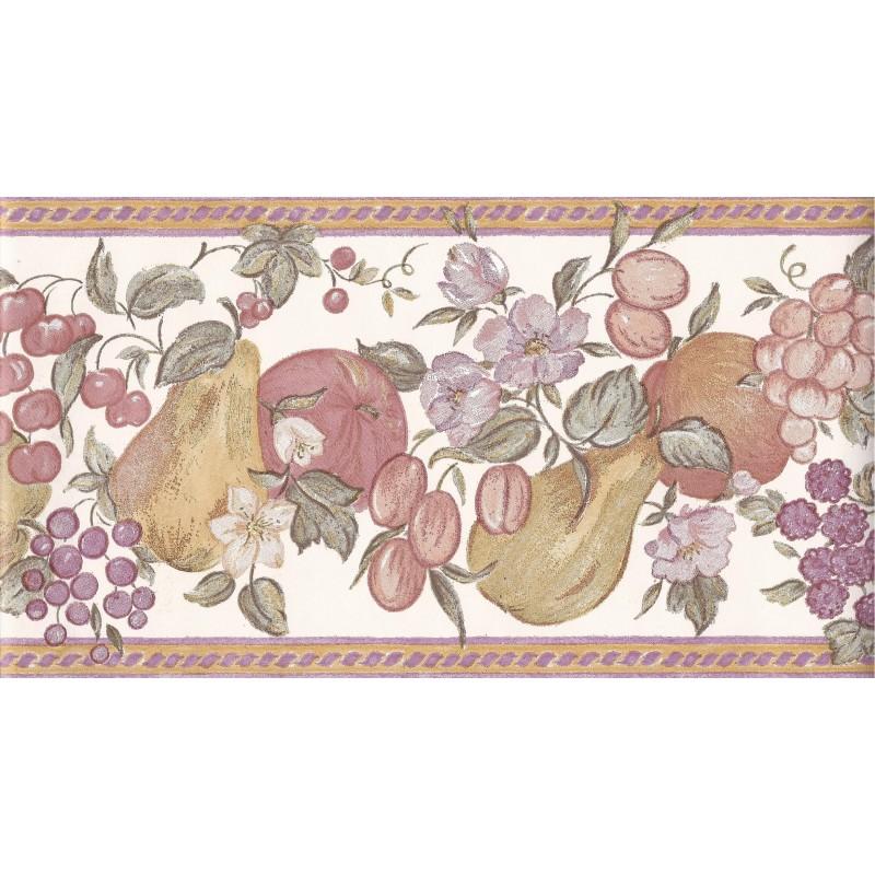 fruit 10 metre wallpaper border in white plum 512387 by coloroll 800x800