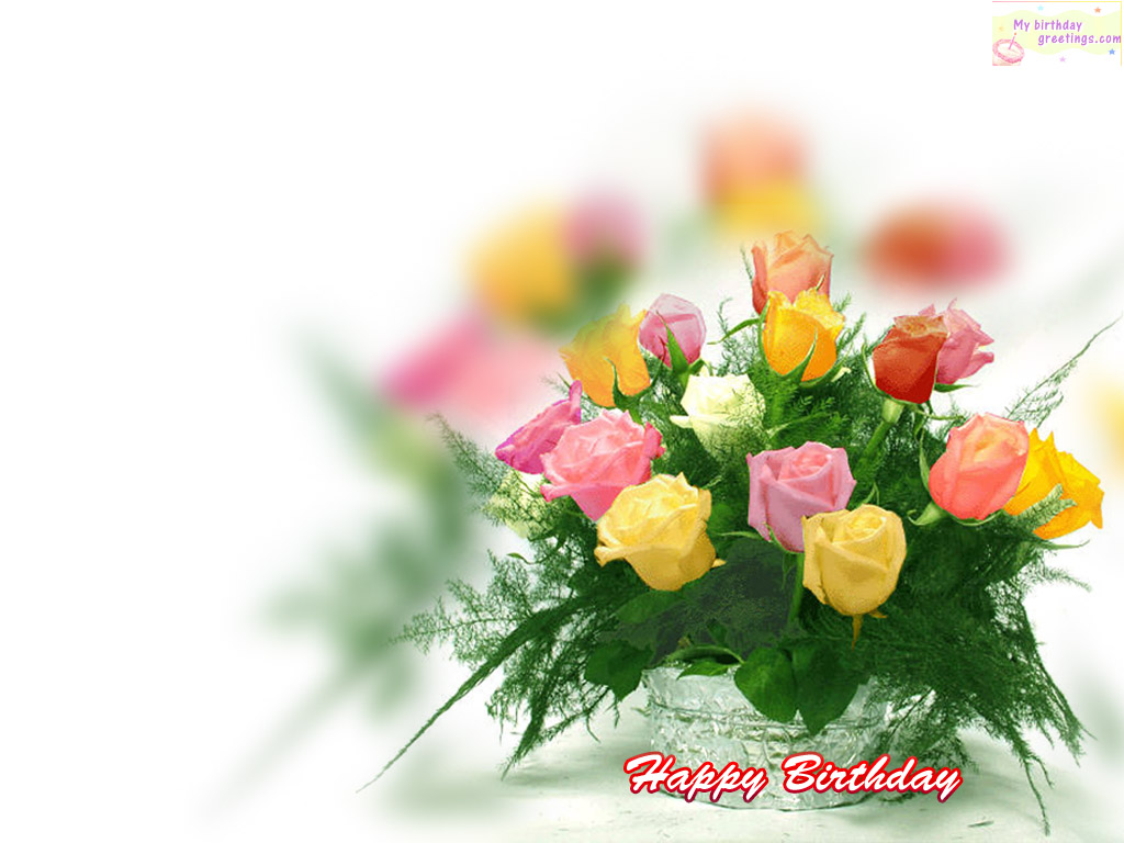 Free Birthday Background Images WallpaperSafari – Free Greeting Card for Birthday
