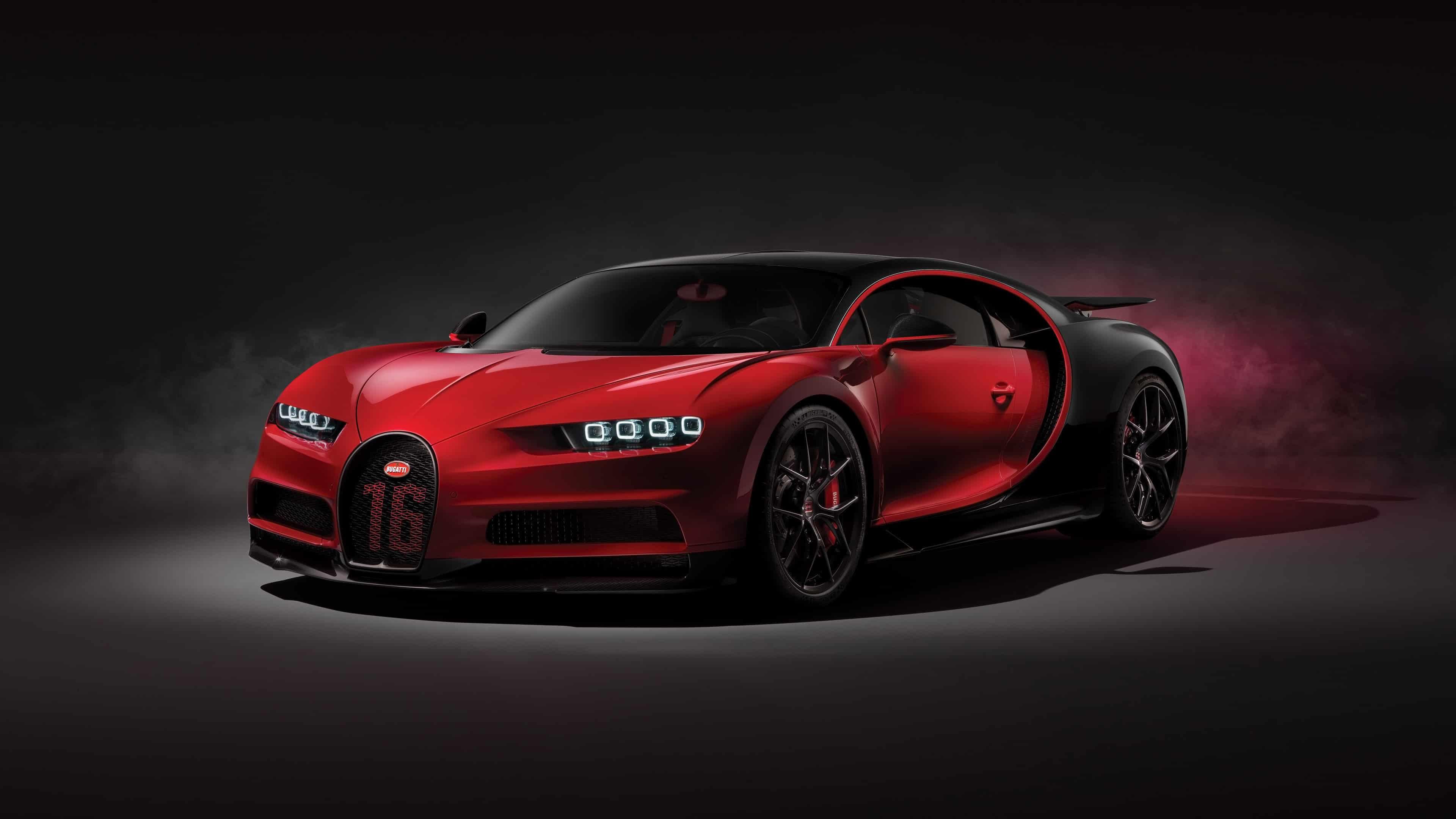 Bugatti Chiron Sport Red UHD 4K Wallpaper Pixelz 3840x2160