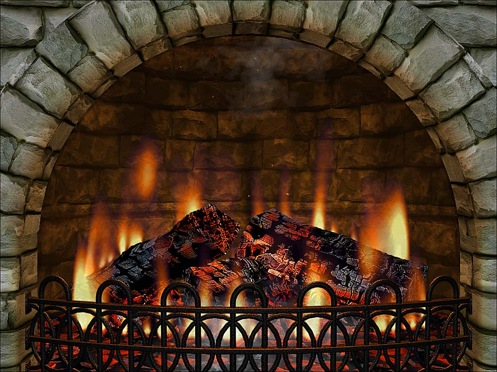 Free Fireplace Wallpaper: Free Animated Fireplace Desktop Wallpaper