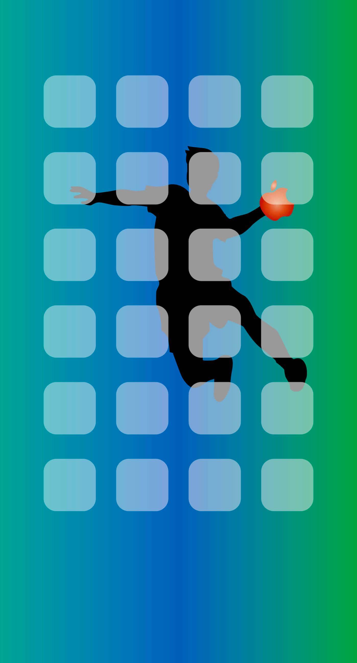 Shelf Apple logo patina handball wallpapersc iPhone7Plus 1398x2592