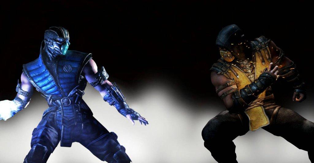 MKX Scorpion vs Sub Zero by ArkhamNatic 1024x532