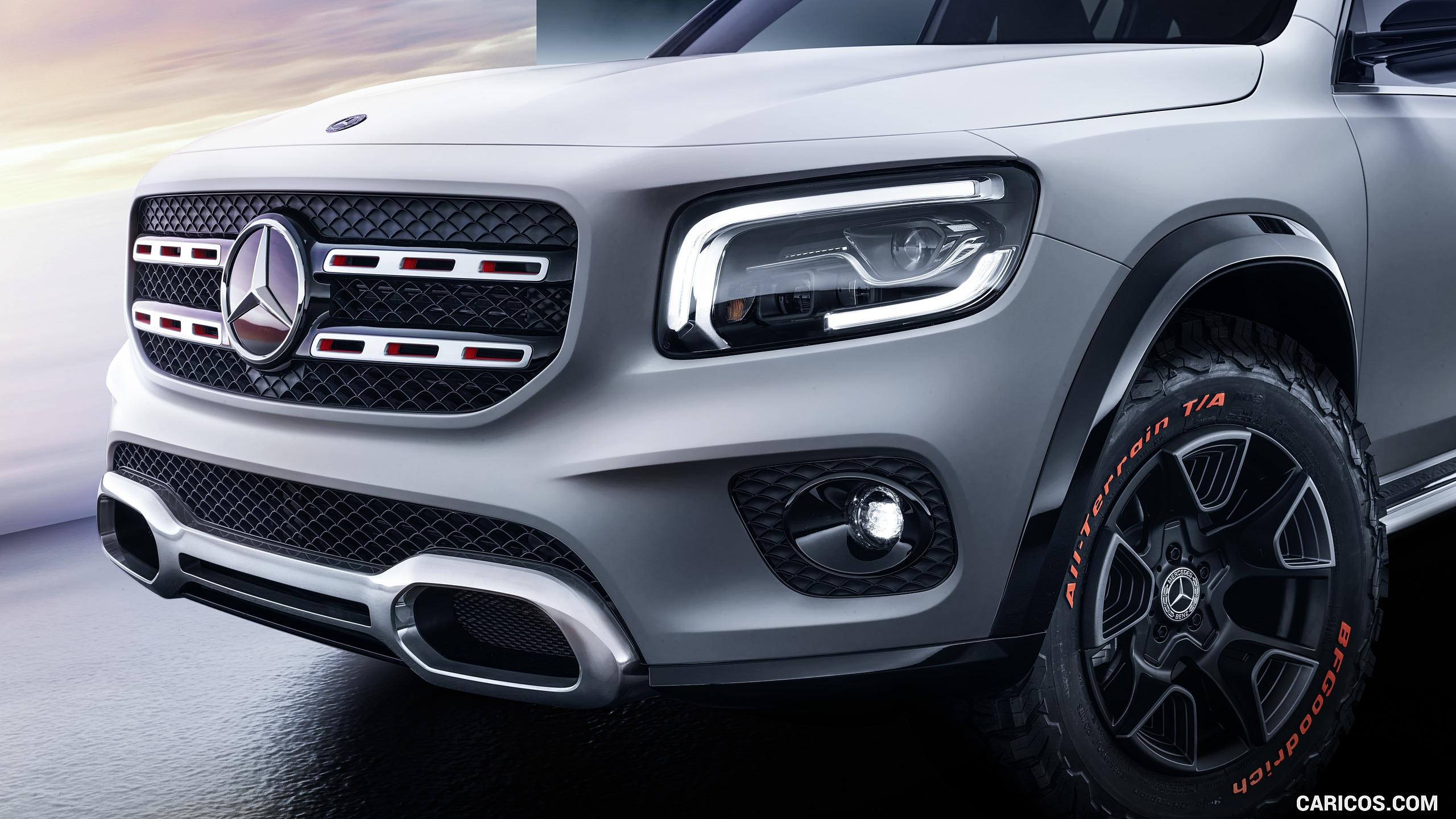 2019 Mercedes Benz GLB Concept   Headlight HD Wallpaper 8 2560x1440