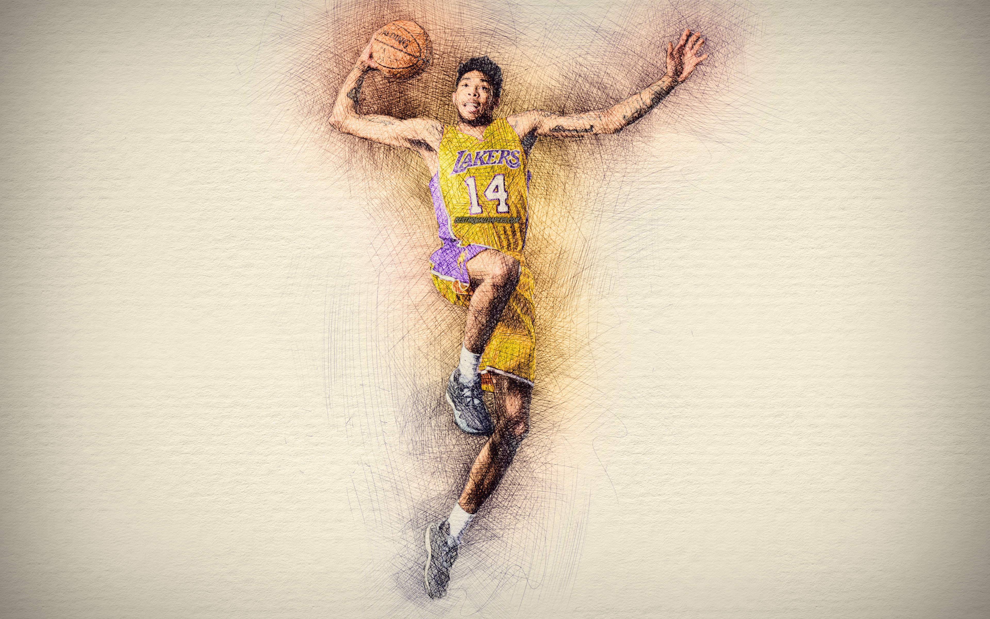 Download wallpapers Brandon Ingram 4k artwork basketball stars 3840x2400