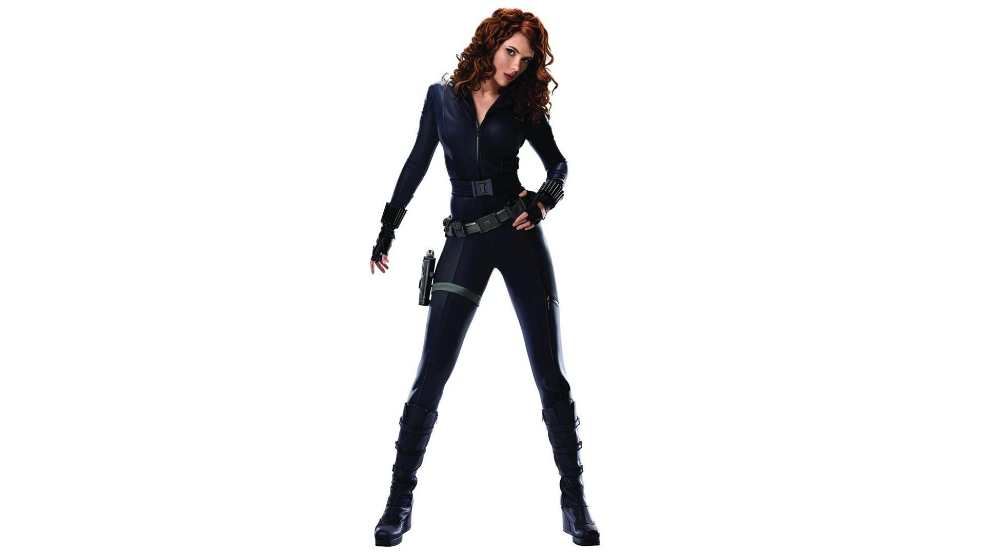 Johansson women actresses redheads Black Widow curly hair Iron Man 2 1920x1080