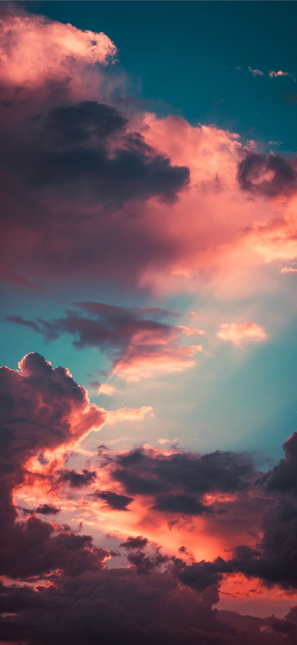 My favourite cloudscape of the year iPhone X Wallpaper Download 1125x2436