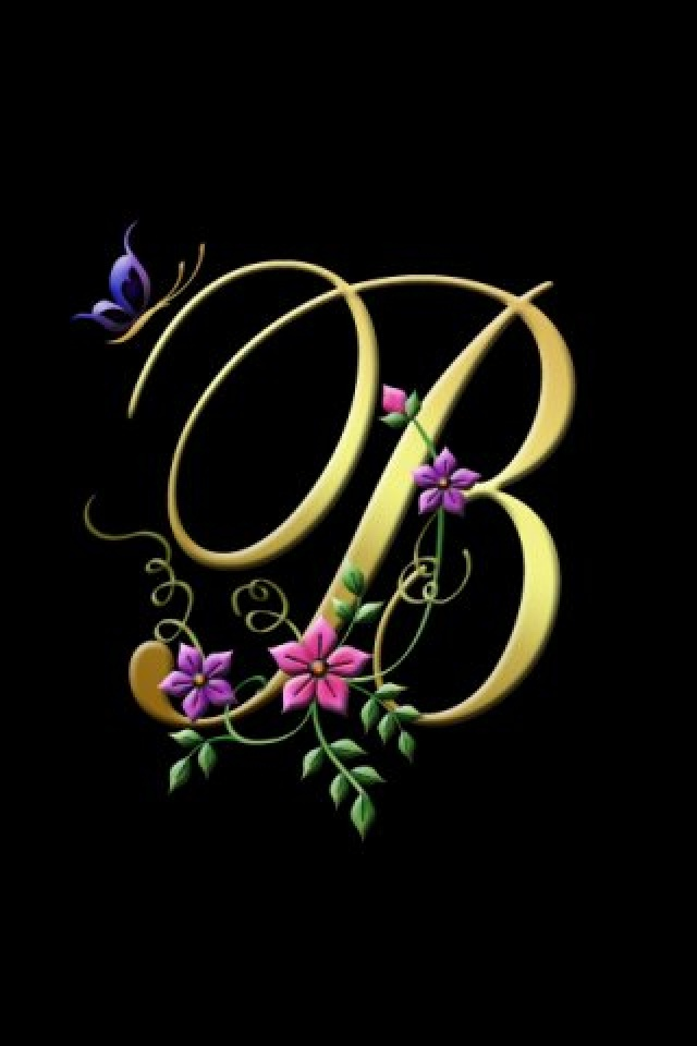 My Creation letter B creative designs wallpaper for iPhone download 640x960
