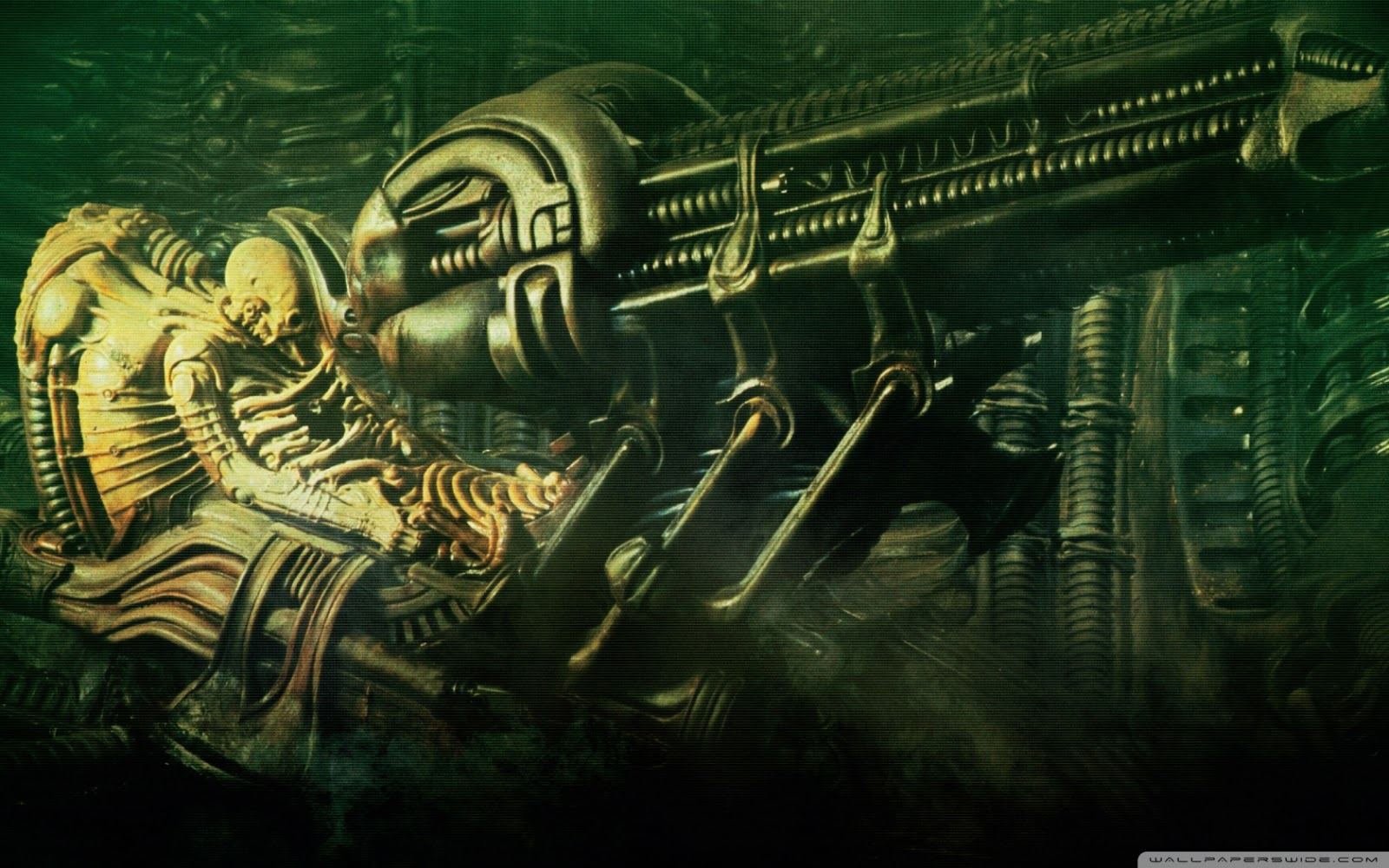alien 3D gun wallpaper Blast of Wallpapers 1600x1000