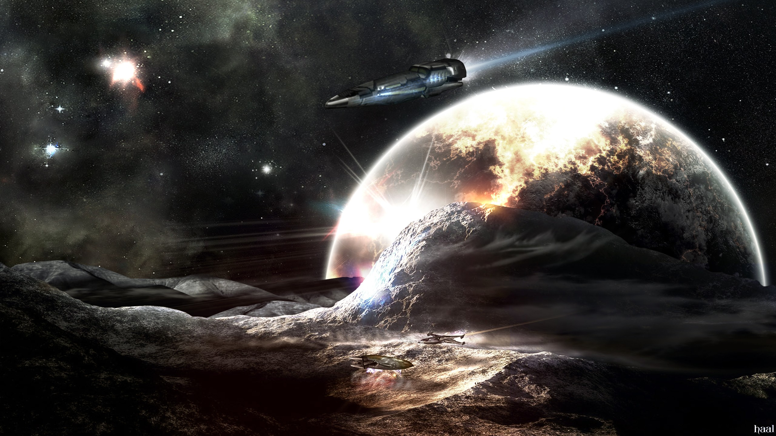 outer space shuttle photo manipulation HD Wallpaper   Space Planets 2560x1440