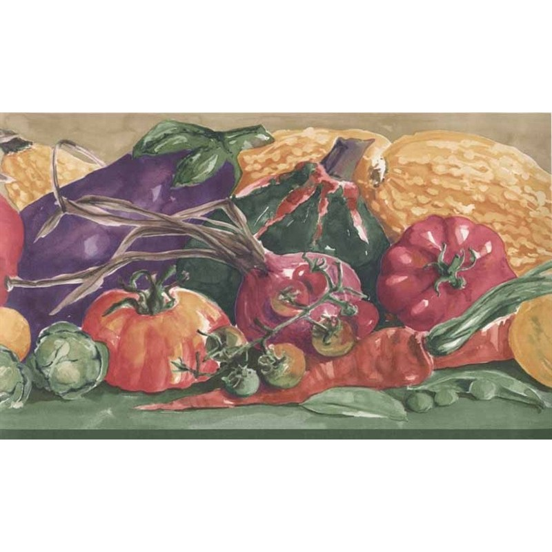 Wallpaper Border Closeout Vegetables Border 800x800