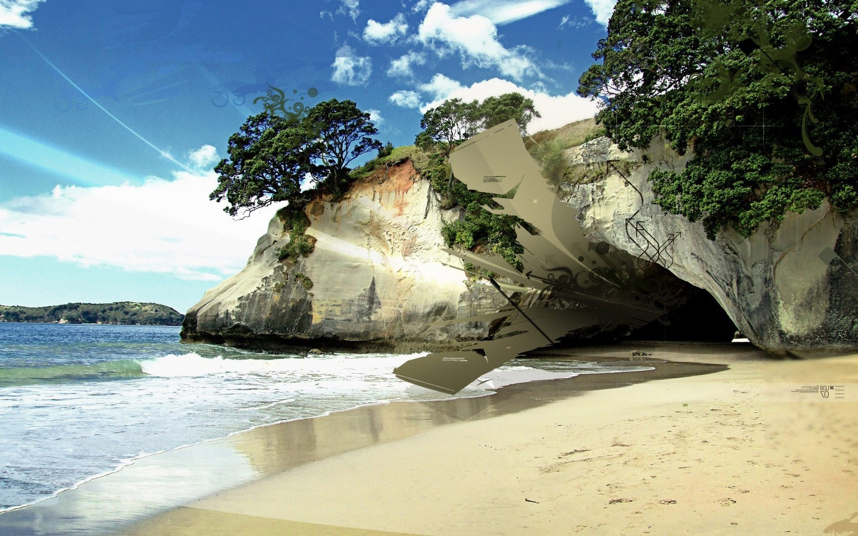 Beach paradise wallpaper cbru 1680x1050