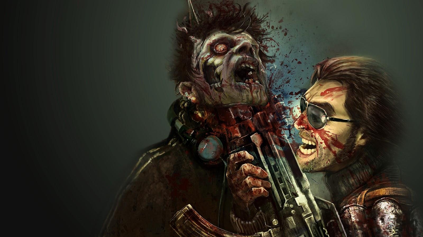 zombiewallpapergunstabbedfacejpg 1600x900