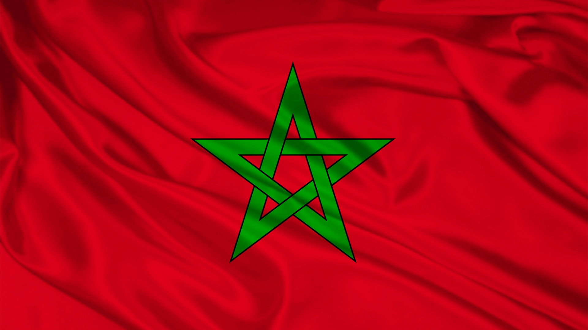 Morocco Flag HD Wallpaper Background Images 1920x1080