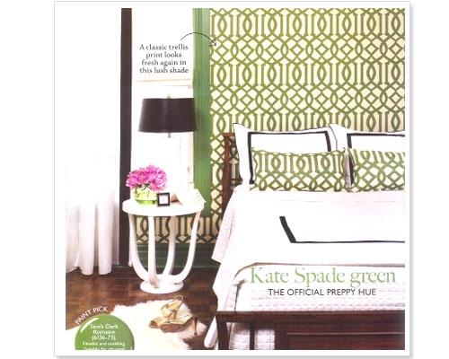 Haymarket Designs Green with Trellis Envy 500x400