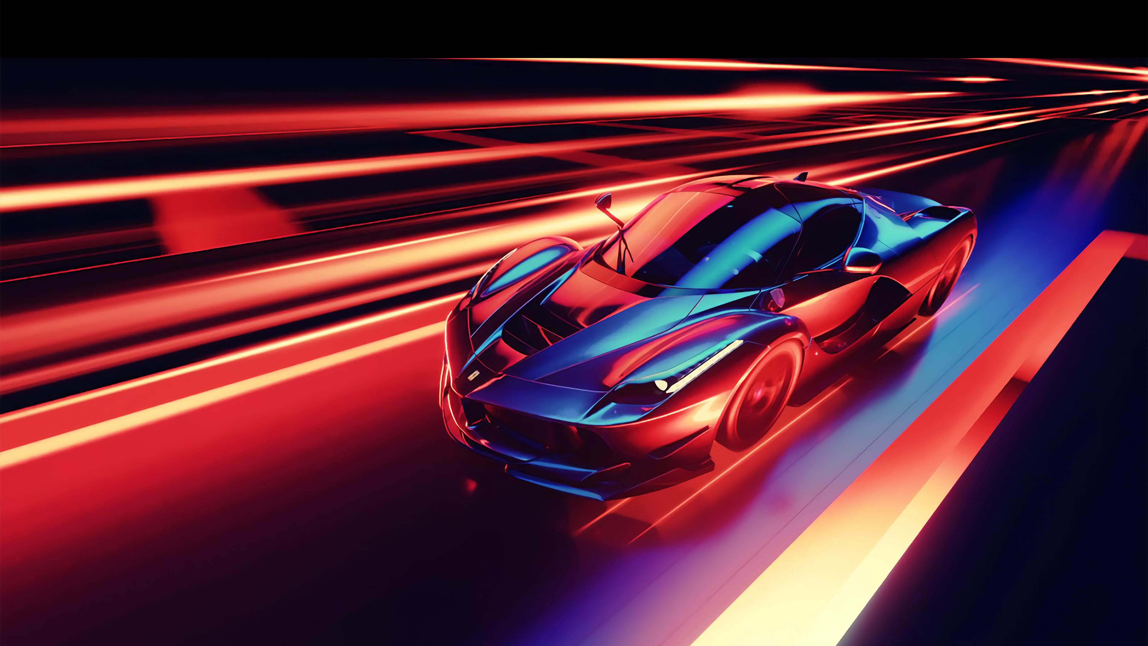 CGI Ferrari Car 4K Wallpapers HD Wallpapers 3840x2160