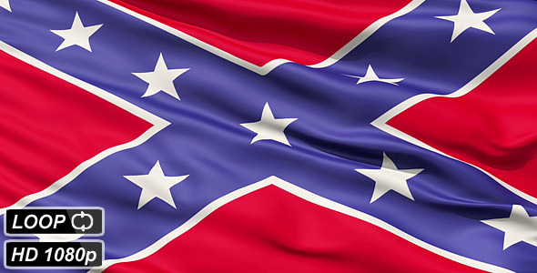 Confederate Battle Flag Close Up   Motion Graphics VideoHive 590x300