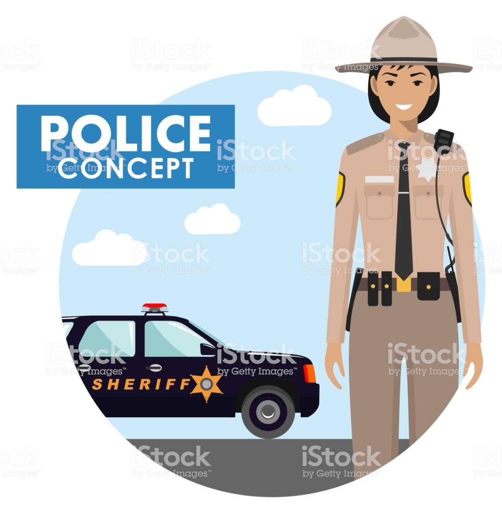 Policeman Concept Detailed Illustration Of Sheriff In Uniform On 1002x1024