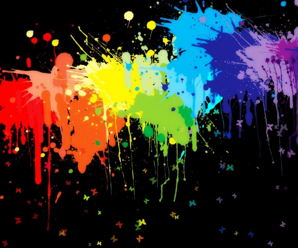 Color splash wallpaper wallpapersafari for Color splash wall art