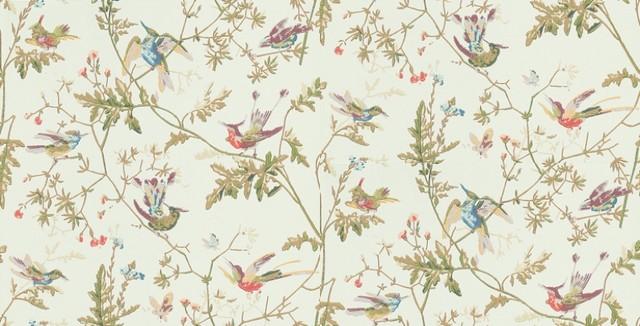 Bird Motif Wallpaper WallpaperSafari