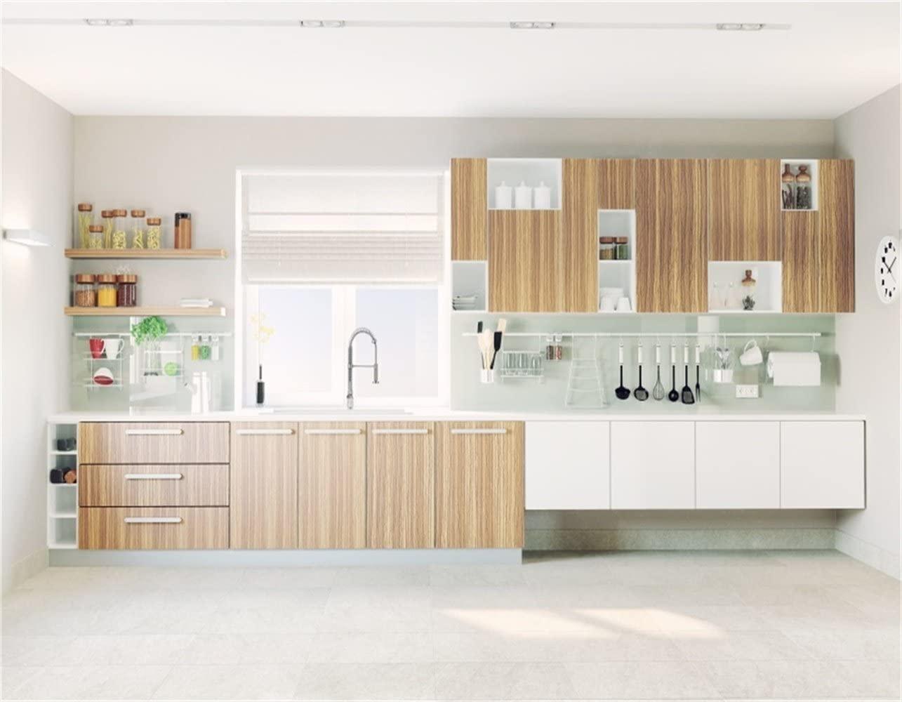 Amazoncom AOFOTO 10x8ft Modern Kitchen Interior Backdrop Sink 1285x1000