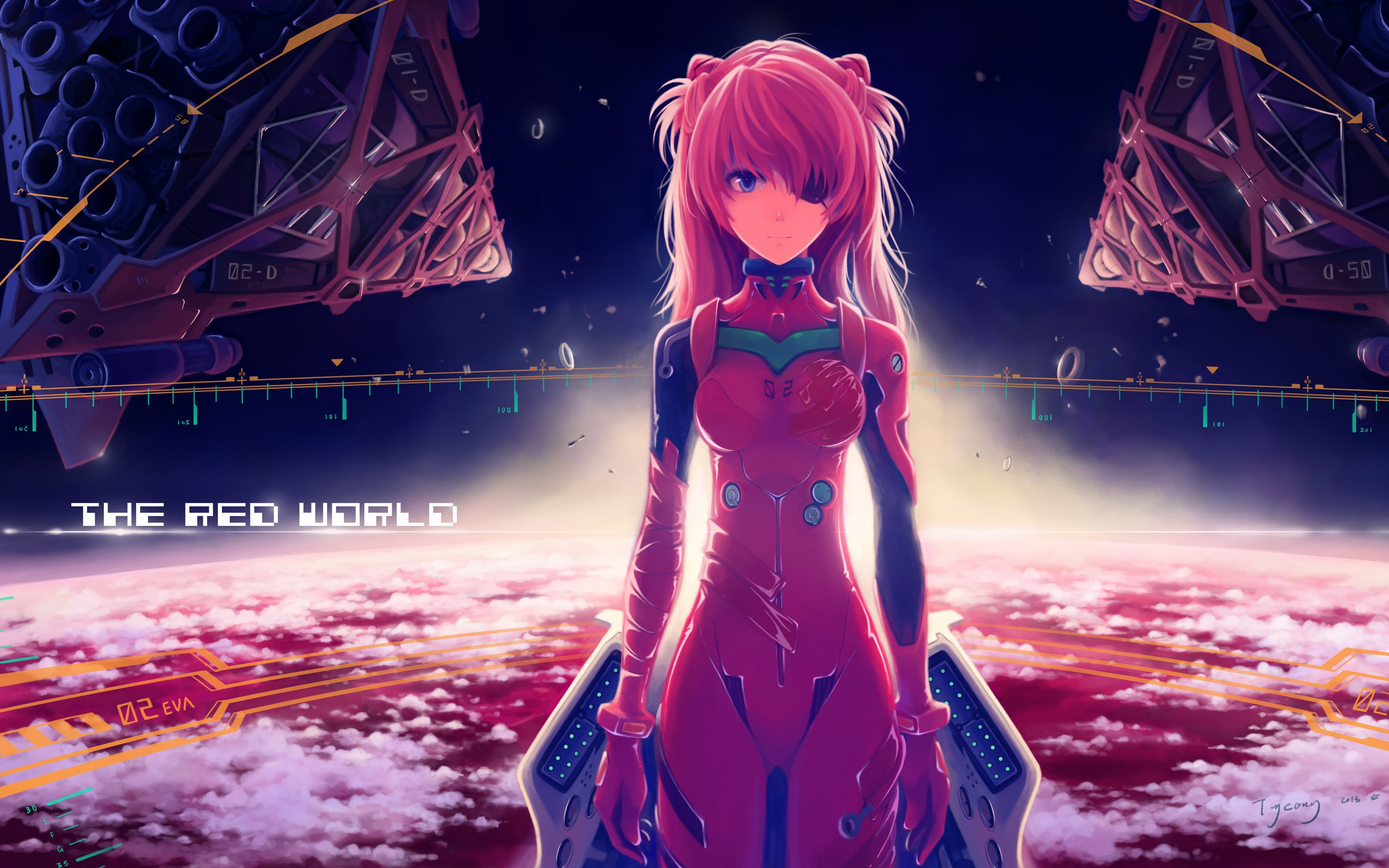 Asuka Langley Soryu Anime Girl Wallpapers HD Wallpapers 2880x1800